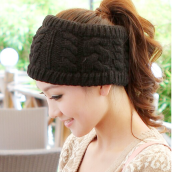 [Kingstore]Fashion Korean Winter Warm Women Braided Knit Hat Cap Headband Hair Bands