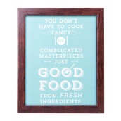 BLOOM & BLOSSOM Good Food Poster with Frame 25x30cm