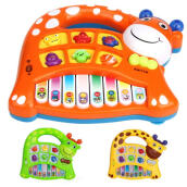 BESSKY Musical Educational Animal Farm Piano Toy - Orange