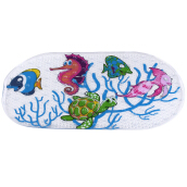Cartoon Anti-slip PVC Bath Mat Bathroom Safety Suction Cups Rug