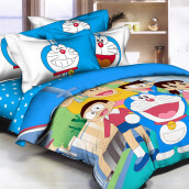 PANTONE Doraemon Fun Bed Cover Set Full Fitted / 120x200cm
