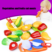 BESSKY 12PC Cutting Fruit Vegetable Pretend Play - Yellow