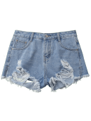 Ripped Cutoffs Jean Shorts