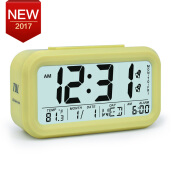 Digital Alarm Clock LCD Electronic Clock Smart Snooze Sensor Despertad Kids Table Clock Temperature Date Week Night Light Clock