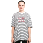 ROSEGOLD  SN1 Stripes T-Shirt With Rose Gold Embroidery
