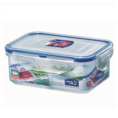 LOCK & LOCK Rectangular Short W/ Divider HPL814C 460ML