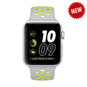 APPLE Watch Series 2 Nike+ 42mm Silver Aluminum Case with Flat Silver/Volt Nike Sport Band