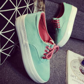 Trendy Light Green Solid CanvasCanvas Sneakers
