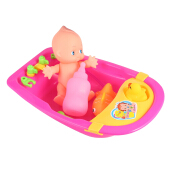 Simulated Infant Bathing Toy with Bathtub
