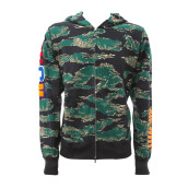 A BATHING APE Tiger Camo Shark Hoodie Green [ABA01679C] L L
