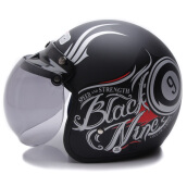 WTO Helmet Retro Black Nine - Black Doff