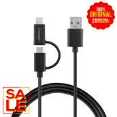 SPIGEN C21 Dual USB Lightning / Micro Connector Cable