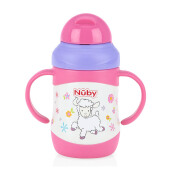 NUBY Twin Handle Stainless Lamb - 220ml