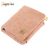Guapabien Dull Polish Chain Design Short Wallet for Girls
