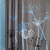 3D Waterproof Polyester Shower Curtain Dandelion Pattern with 12 Plastic Hooks