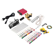 [Kingstore]New Tattoo Machines Gun Equipment Power Supply 20 Color Ink Cup Tattoo Set