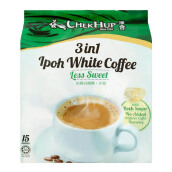 CHEK HUP 3 in 1 Ipoh White Coffee Less Sweet 15 Sachet x 35g