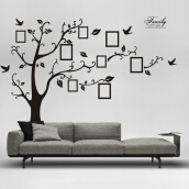 JDwondefulhouse Memory Tree Photo Wall Sticker Living Room Home Decoration - Black