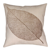 BLOOM & BLOSSOM Cushion Cover - White Leaf  / 44cm x 44cm