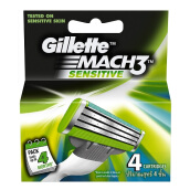GILLETTE Mach3 Turbo Sensitive Cartridge 4pcs