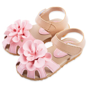 Baby Girls Summer PU Leather Flower Design Sandals Shoes