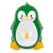Separable Suspensible Lovely Penguin Shape Boys Standing Urinal (Green)