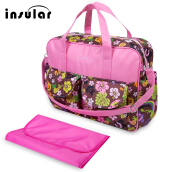 Multifunctional Zipper Clossure Handbag Mummy Diaper Bag(Fruit Pattern 39*12.5*33)