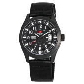 SWISS NAVY Women Black Dial Black Nylon Strap [8805LABWHBK]