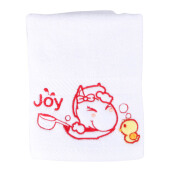 JOYHOME Sport Towel Shower Time with duck 40x70cm 550gsm - White