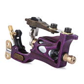 Tattoo Body Art Alloy Motor Rotary Machine Gun Purple