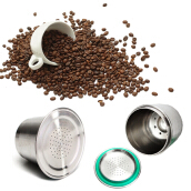 JDwonderfulhouse Stainless steel nestle coffee capsule cup -Silver