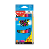 MAPED 12 Color'Peps cardboard box + 1 GOLD/SILVER