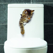 YEDUO 3D Cat Animal Bathroom Bedroom Decor Wall Sticker