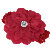 Cute Knitted Flower Zircon Decoration Babies Hairband