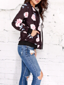 Zip Up Carnation Print Jacket