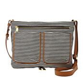 FOSSIL Piper Leather Small Crossbody Black Stripe Ladies [ZB6814-080]
