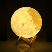 UE3D020 Rechargeable 3D Print Moon Lamp Night Light Home Decor