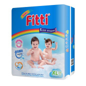 FITTI Popok Tape Rainbow Jumbo Pack XL34 [Karton Isi 4]