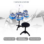 Wanyi Kids Deluxe Jazz Drums Kit Musical Instrument Toy