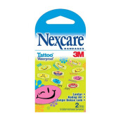 3M NEXCARE Bandages Tattoo Waterproof, Cool isi 3 pack (1 pack isi 2 plaster )