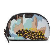 FOSSIL Gift Pvc Small Cosmetic Case Blue Floral Ladies [SL7121-452]