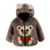 BESSKY Baby Infant Bear Autumn Winter Hooded Coat Cloak Jacket Thick Warm Clothes_