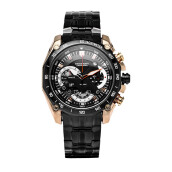 SWISS NAVY Man Chronograph Black Dial Stainless Steel [8005MRGBK]