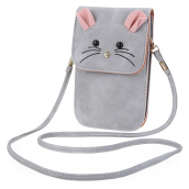 Mouse Vertical Type PU Leather Shoulder Bag
