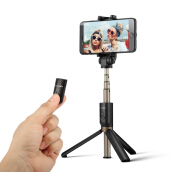 BlitzWolf BW-BS3 Bluetooth Mobiphone Selfie Sticks - Black