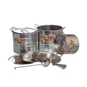 VICENZA Multi Purpose Stock Pot Steamer / Panci Masak Serbaguna & Penutup V525 Set 12 Buah