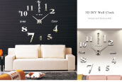 M.Sparkling Large 3D Mirror Effect Sticker DIY Digital Wall Clock Home Decoration