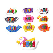 BESSKY Kids Baby Musical Educational Animal Developmental Music Bell Toy 4 Tone- Multicolor