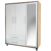 Ivaro - Queen Moreo Wardrobe - White Gloss White Gloss big