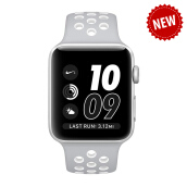 APPLE Watch Series 2 Nike+ 42mm Silver Aluminum Case with Flat Silver/White Nike Sport Band